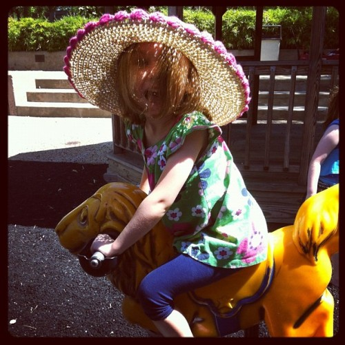 Yeah, she rides lions. #mygirl (Taken with instagram)