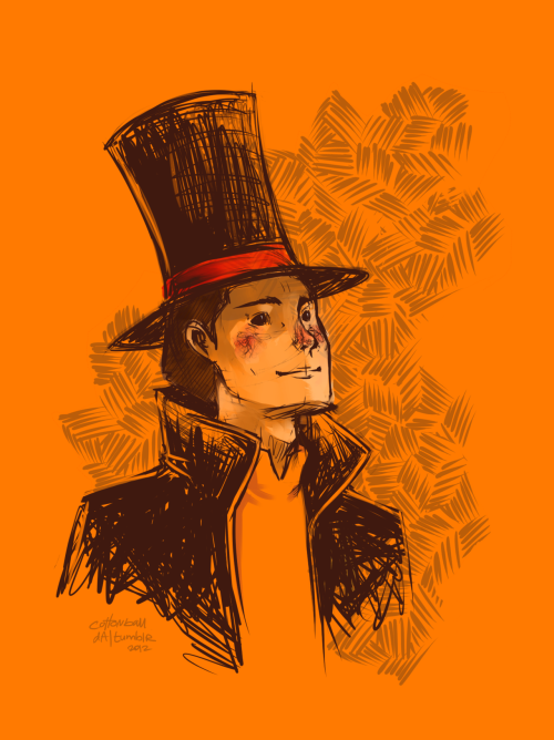 120daysofdrawing:   Day 27 | This reminds me…  So. I run a Professor Layton blog called Gressenheller University… except it's been inactive for quite some time now because of recent life style changes. I still think about it and its inevitable decline. I knew I'd burn out someday but I still miss blog modding now and then. :<
