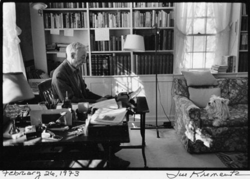 E. B. White with his pup, Susy.     (via 2.9.09: Jill Krementz Photo Journal - Top Dogs | New York Social Diary)