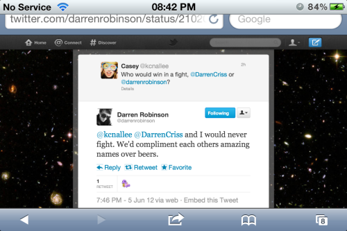 Again. Dead. Thank you for clearing that up Darren. x