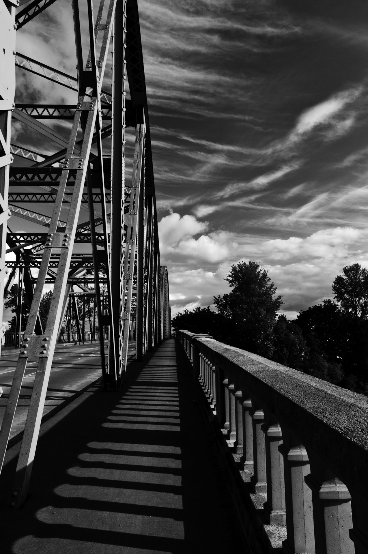 Beautiful day in Oregon.  Here's a shot of Ellsworth Bridge in Albany.