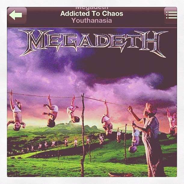 'cus YOUTHANASIA was a kick ass album. Next to RUST IN PEACE. #megadeth  (Taken with instagram)