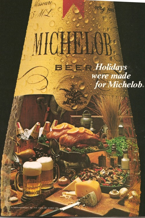 Michelob. Ad from Playboy, December 1981.