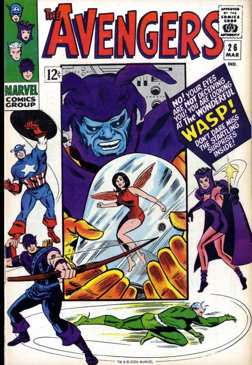 The Avengers #26, March 1966, cover by Don Heck and Frank Giacoia