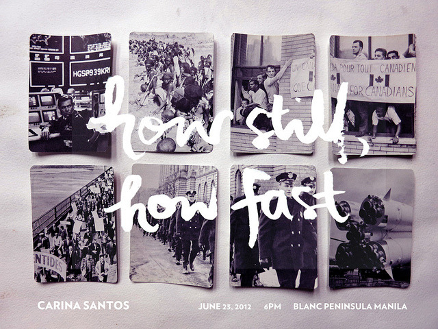 Hello everyone! How Still, How Fastis my new exhibit, opening on June 23 at Blanc Peninsula Manila. (There is literally a gallery in Manila Pen.) It opens at 6PMand I hope you can be there. :)  (via Nothing Spaces » How Still, How Fast)