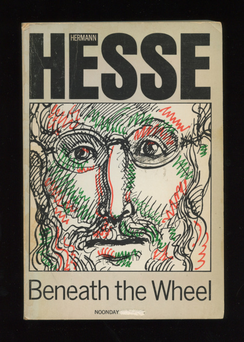 """Beneath the Wheel"" by Hermann Hesse  (Cover designed by Milton Glaser)"