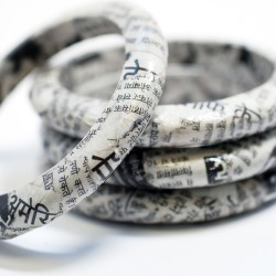 Recycled Newspaper Eco Bangle - India