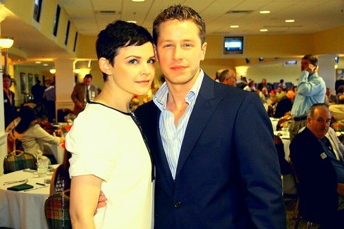 Ginnifer Goodwin and Josh Dallas during the Kentucky Derby Festival Celebrity Day at the Downs at Churchill Downs in Louisville KY. (by Frankie Steele/NFocus Magazine) May 3, 2012