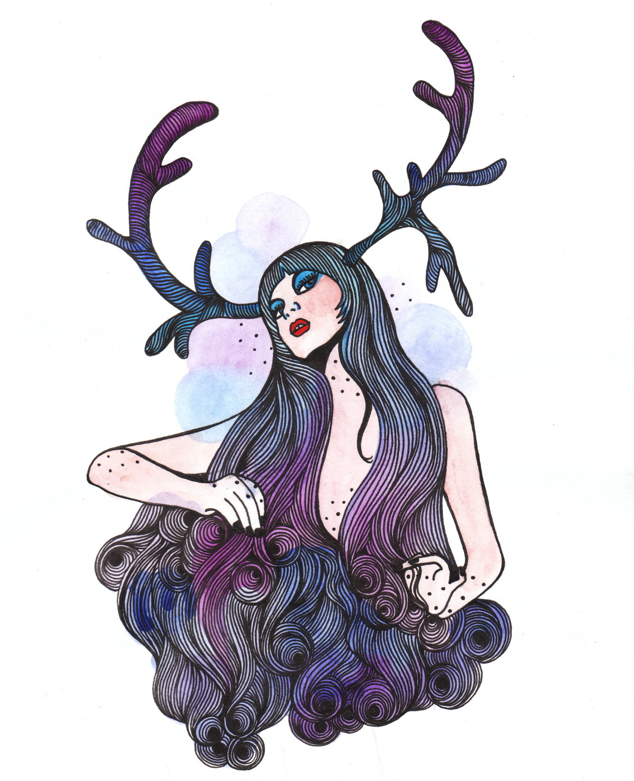 an illustration I did for singer songwriter Erinn