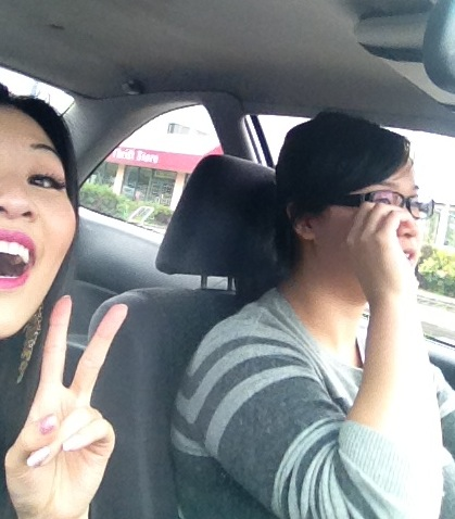 Me being me and nanner yelling at me while she focuses on the road =)  #WatchOut #NiceTeeth #BFF