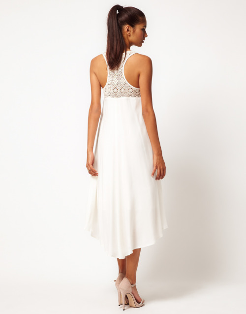 Jarlo Crochet Back Swing Midi DressMore photos & another fashion brands: bit.ly/JgQ1RB