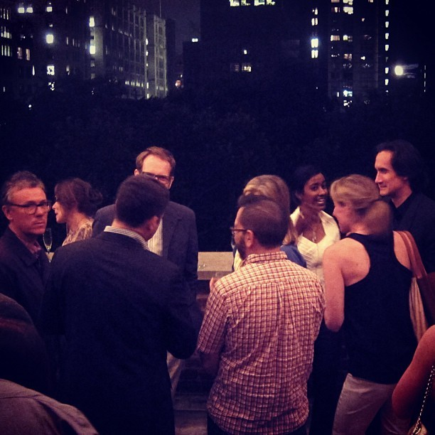one of those lovely nights in new york city - a rooftop party, beneath a splendid full moon, with a view of madison square park. sometimes it doesn't seem real. (Taken with Instagram at Pentagram Design)