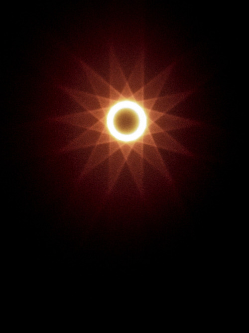 ikenbot:  Annular Eclipse with Fraunhofer Diffraction by Valerie Hayken Shot with a Toyo 4x5 Field Camera and Schneider 135mm on film, May 20, 2012.