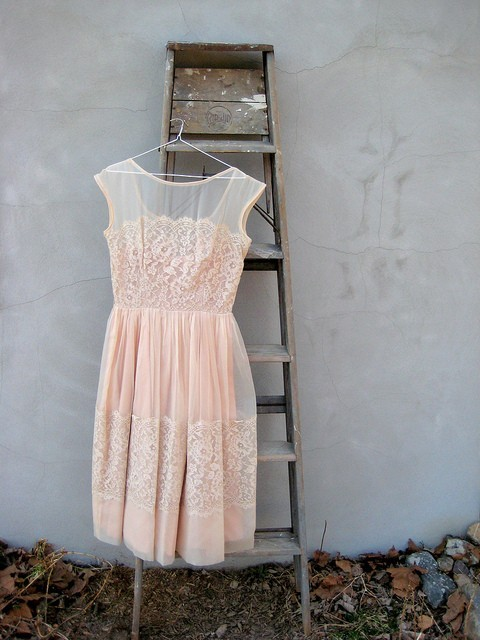 whocoulddowithoutyou:  blush colored dress