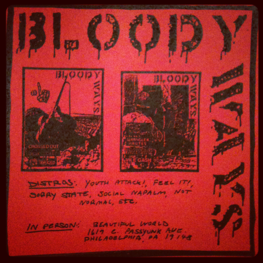 Bloody Ways Flyer  By Matt Bellosi