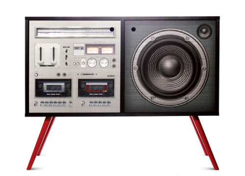 Boombox Cabinet(via Fancy)
