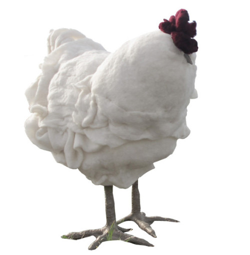 Betty - Chicken footstool - Thecitygirlfarm via Think.Bigchief