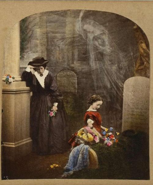 realityayslum:  Hablot Knight Browne - The Mother's Grave,c.1854-1860. … via the National Gallery of Canada