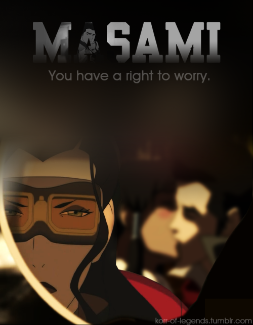 korr-of-legends:  Masami… I feel bad for Asami… she's just now catching on the Makorra thing