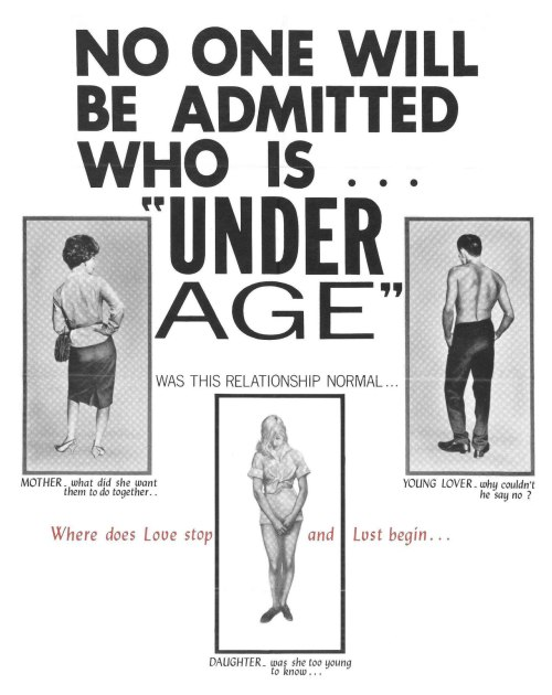 mudwerks:  (via Poster for Under Age (1964, USA) - Wrong Side of the Art)