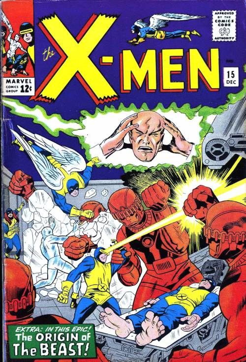X-Men Issue# 15 art by Jack Kirby