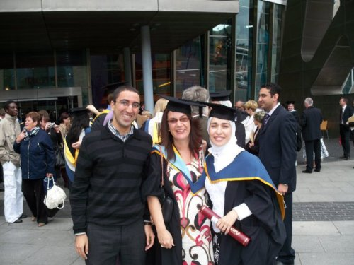 Oppressed and graduated with distinction from the UK.