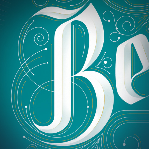Browsing hand lettered B's for inspiration, found this beauty. typeverything:  Typeverything.com - 5280 Magazine (detail) by Jordan Metcalf.