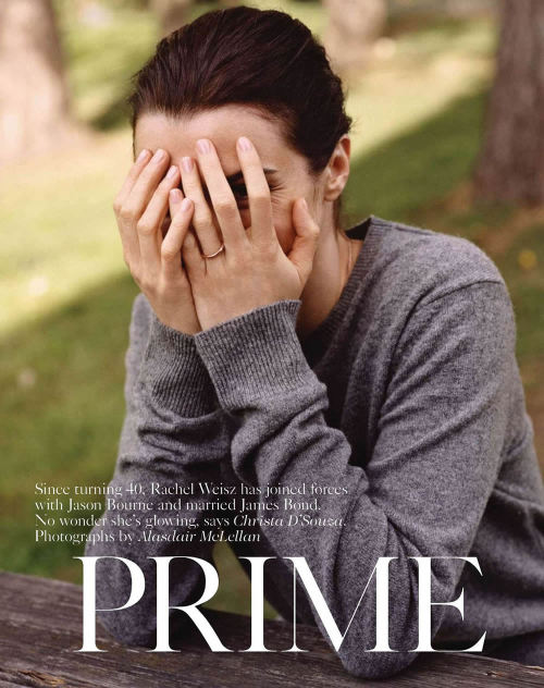 Rachel Weisz graces on the nature backdrop for the July issue of British Vogue magazine, photographed by Alasdair McLellan and styled by Francesca Burns. Hair: Luke Hersheson. Make-up: Lisa Butler. Manicure: Sophy Robson.       Original Article