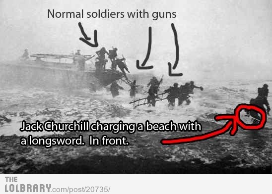 dailyhilariouspics:  Jack Churchill: History's Biggest Badass Follow this blog for the best new funny pictures every day