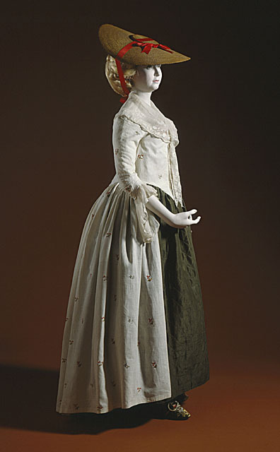 omgthatdress:  Robe à l'Anglaise 1780s The Los Angeles County Museum of Art