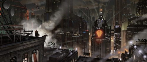 herochan:  Gotham Illustration by Yohann Schepacz