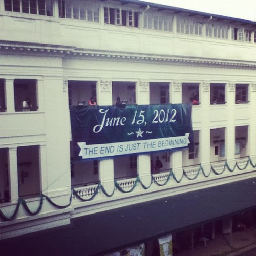 The end is just the beginning. #animo  (Taken with instagram)