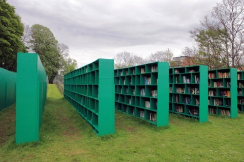 An Outdoor Library in Ghent by Massimo Bartolini