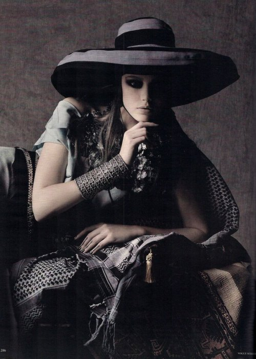 lovelostfashionfound:  Frida Gustavsson - Vogue Germany March 2011