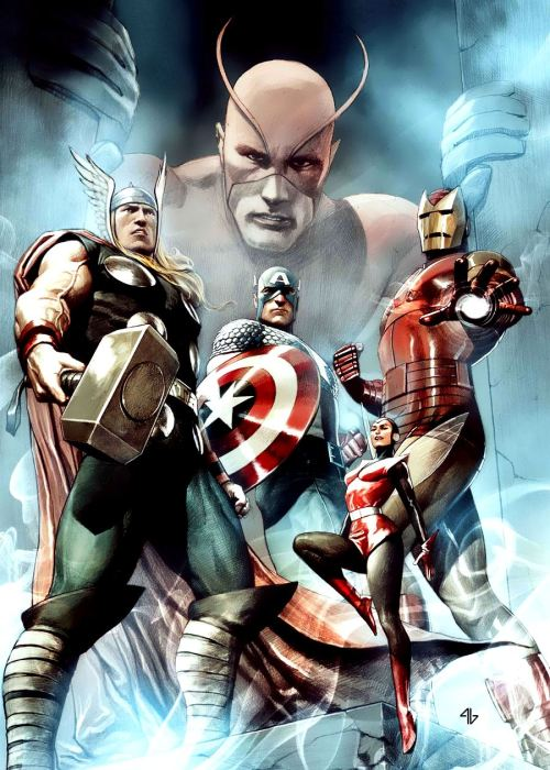 thefandomzone:  THE AVENGERS by Adi Granov