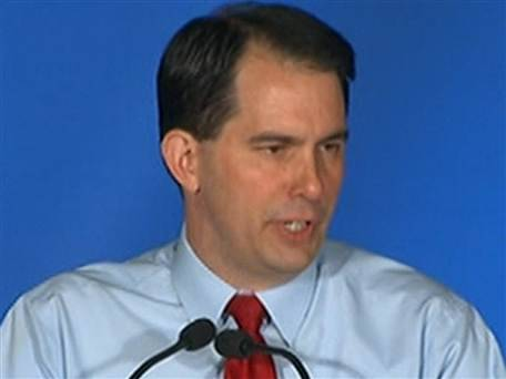 WAUKESHA, Wis. — Wisconsin Gov. Scott Walker (R) survived a furious campaign seeking his recall on Tuesday, emerging as the victor in a bitter fight over state budgets and collective bargaining rights.  Image: NBC News