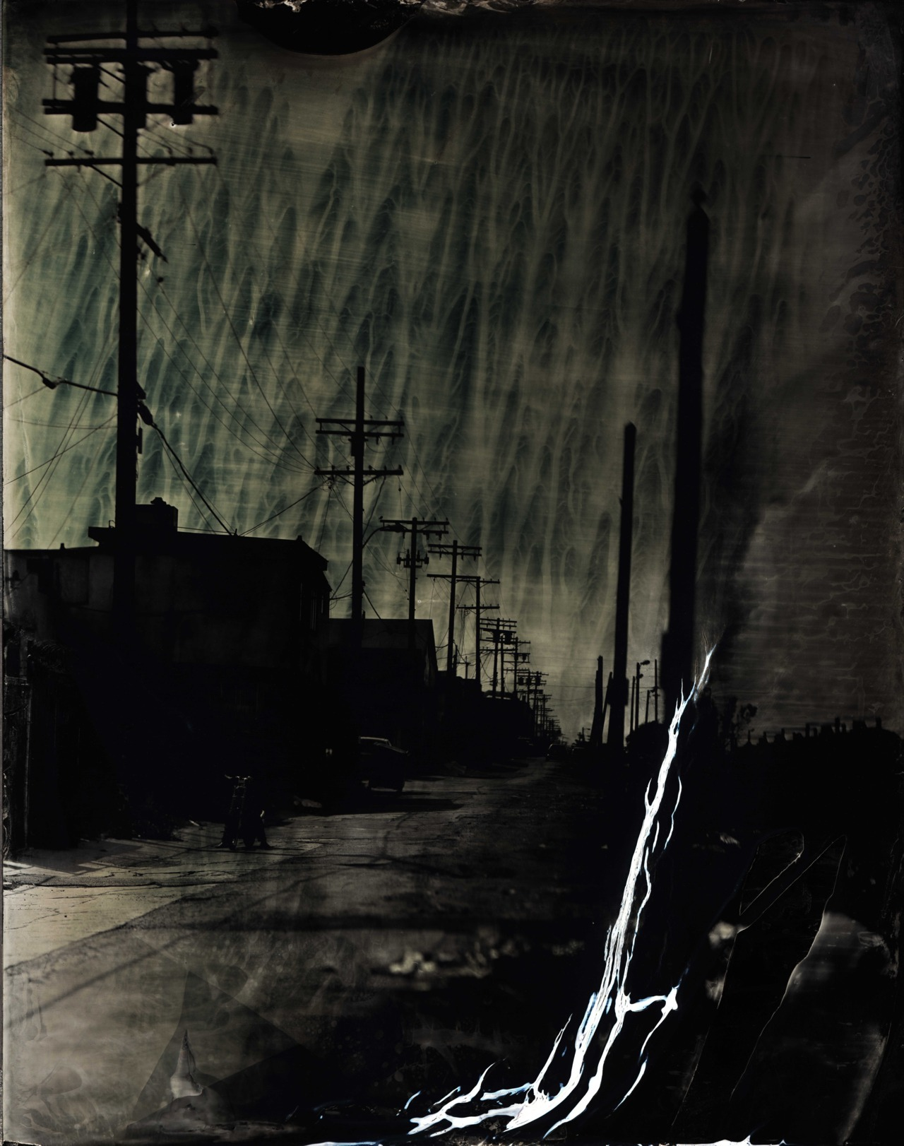 "Ian Ruhter/ Wet Plate Collodion 27""x36""/Melting Sky/ Los Angeles CA 6.3.2012"