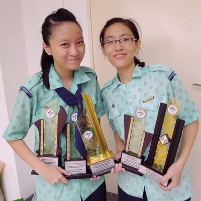 Final year leading, with @yeeshuang 😊 All of our hard work paid off. Clhs gathering, best overall champion 😄😄😄😘 (Taken with instagram)