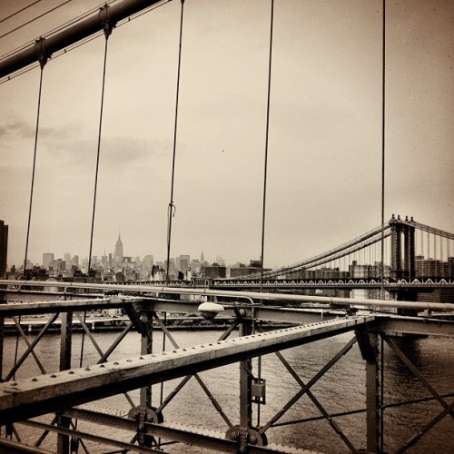 Empire State from the Brooklyn Bridge (Taken with Instagram at NYC)
