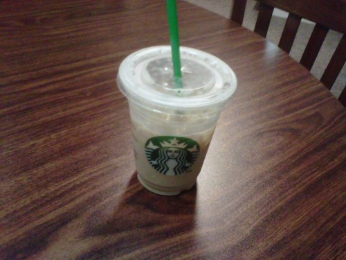 Snack: Iced Grande Light Iced Soy Chai Tea Latte (Everything about the origins here unknown.)