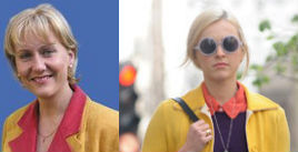 Rouge et jaune comme Fearne Cotton fashion icon british