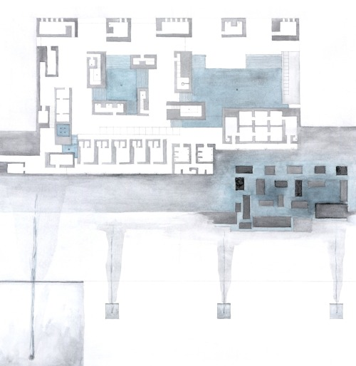 luaberlin:  Peter Zumthor's illustration of the floors plan of the Thermal Baths in Vals…