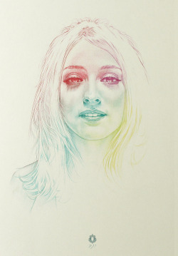 getinwolved:   RR portrait | colours Colored Pencils 2011 Oriol Angrill Jordà