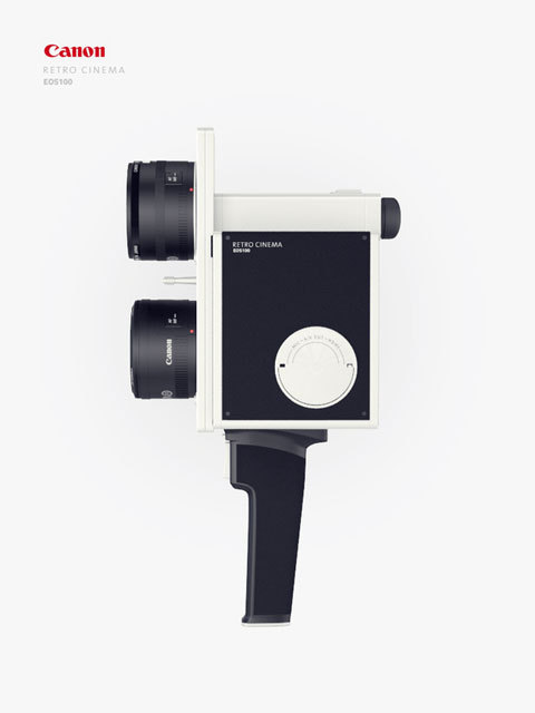 "artcultech:  A Prototype for Retro Camera CANON: EOS100 Two designers with head full of ideas Aleksandr Mezentsev and Maxim Suhih decided to ride the wave of ""vintage / retro"" by proposing a concept of retro camera."