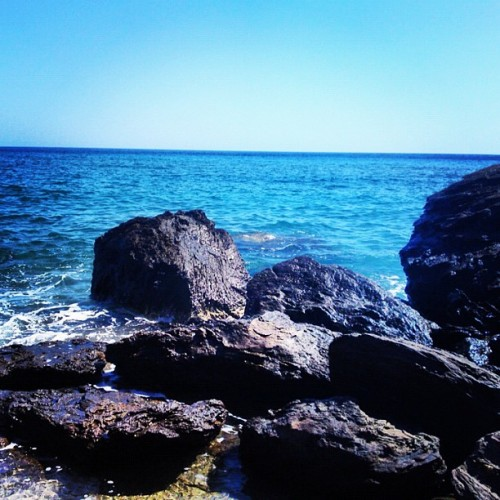 #milos #summer #greece #rocks #sea #sky (Taken with instagram)
