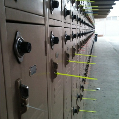 #SeniorPrank #ZipperTie #All #Lockers #LastDay #Seniors #2012 #SeniorMoment (Taken with instagram)