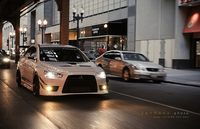 ray's evo by zandbox photo on Flickr.Running the streets.