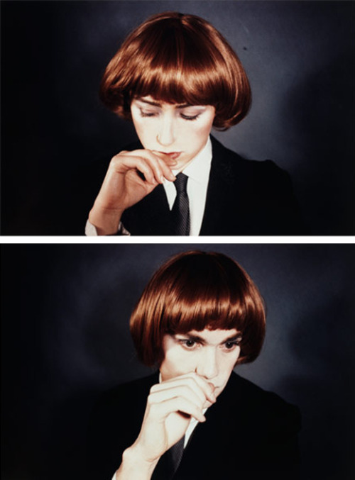 welovecindysherman:  Cindy Sherman & fellow artist Richard Prince collaborated on this untitled piece in 1980.