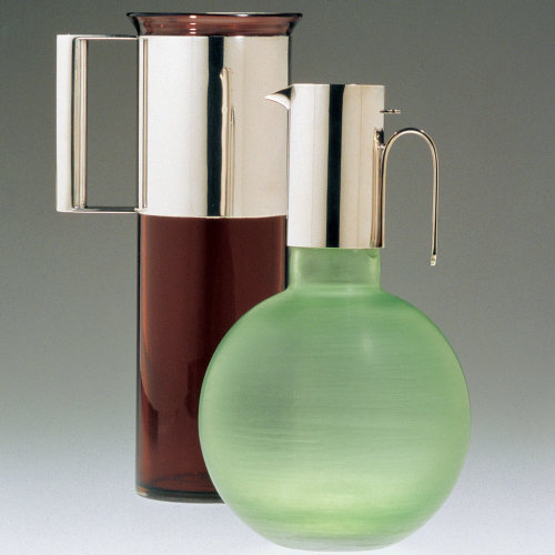 Stunners. Glass and Silver carafes by Lella and Massimo Vignelli at the Italian Cultural Institute of New York. via NYT Mag