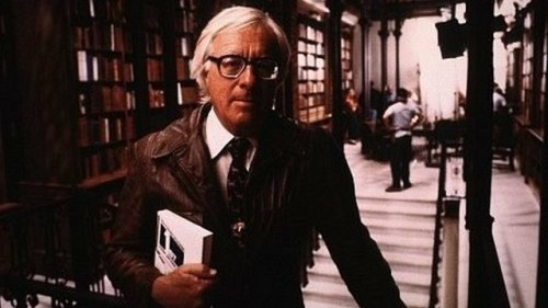"mutations:  shortformblog:  R.I.P. Ray Bradbury: The ""Fahrenheit 451"" author, who wrote numerous other literary classics in his day, died Wednesday at 91. ""If I had to make any statement, it would be how much I love and miss him, and I look forward to hearing everyone's memories about him,"" Danny Karapetian, Bradbury's grandson, said to io9. Sad news. (edit: Karapetian is his grandson; apologies, fixed)  FUCK.  EVERYTHING."